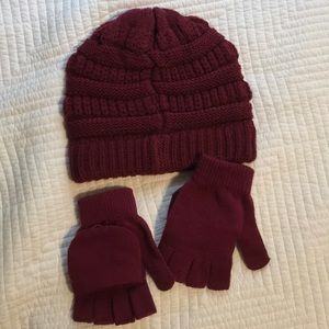 Accessories - Knit hat and gloves